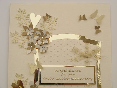 Hand  Wedding Cards on Crafty Love N Hugs  Golden Wedding Anniversary Card   Box