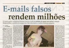 VALE LEMBRAR QUE E-MAILS FALSOS RENDEM MILHÕES