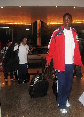 Llegada de Chivas USA al hotel/Chivas USA arrives at hotel