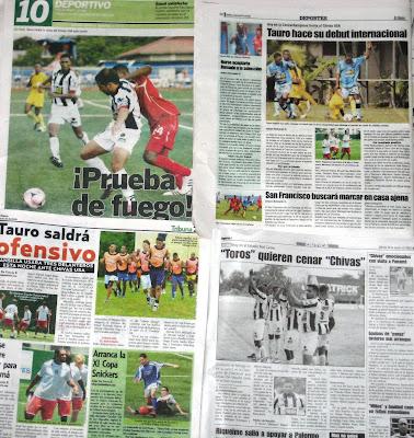Cobertura de la prensa panameña el martes
