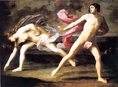 Hipomenes y Atalanta de Guido Reni