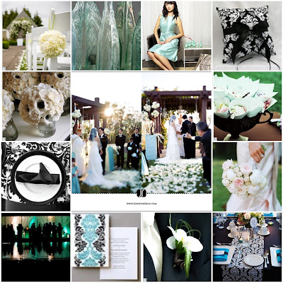In the beginning our colors were Pale Aqua and Black White Damask