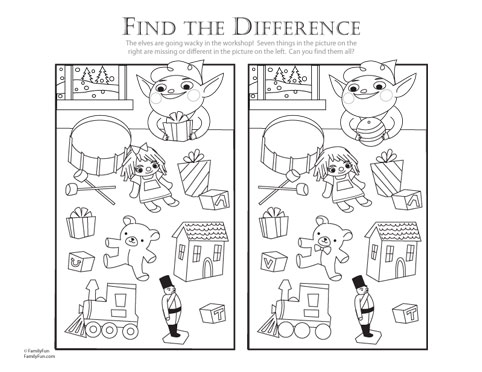 Number Names Worksheets : printable find the difference ~ Free ...