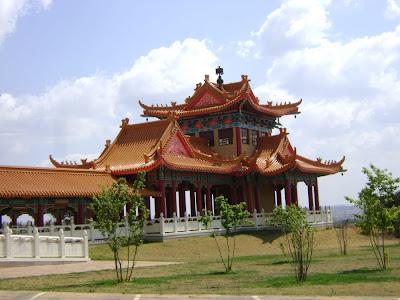 Widok na świątynię buddyjską w RPA