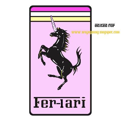 ferrari logo. Putting the Ferrari logo