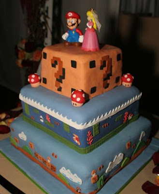 super mario wedding cake