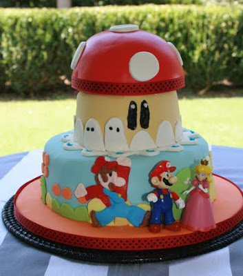 mario wedding cake picture