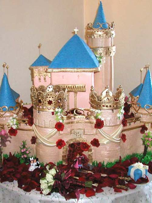 lilys Cakes And Breads Expensive Wedding Cakes Shaped Castle