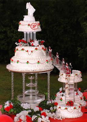 elegant wedding cake image
