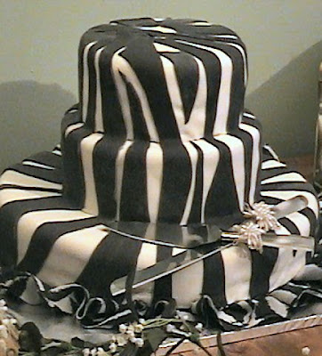 wedding cake zebra