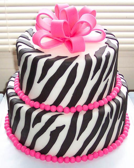 Cake With Zebra Design : Zebra Striped Design Wedding Cakes Food and Drink