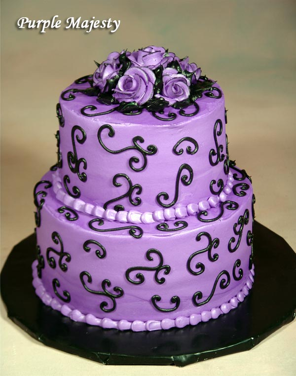 Variant Of Purple Wedding Cakes