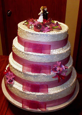 beautiful ribbon cake
