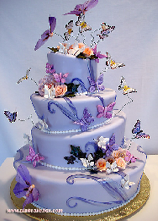 purple wedding cake wallpaper