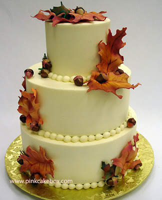 wedding cakes autumn decorate