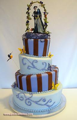 wedding cake with strange topper