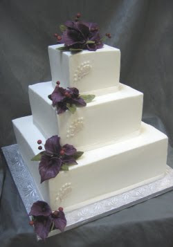 white square wedding cakes