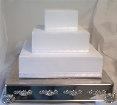square dcorate wedding cakes