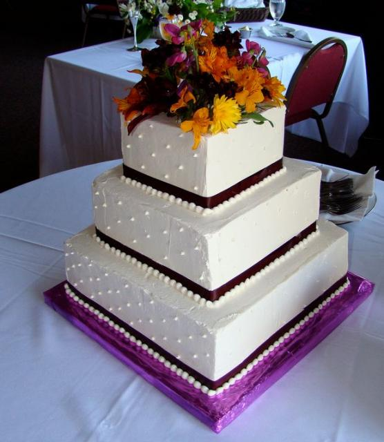 White Square Wedding Cakes Pictures