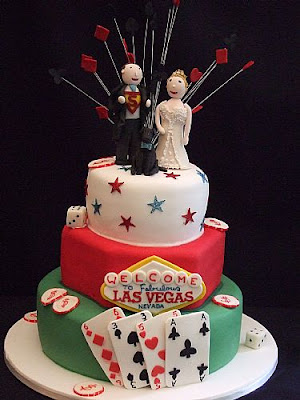 las vegas wedding cake decoration