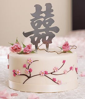 white wedding cake with lotus