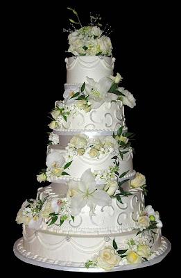 white wedding cakes pict