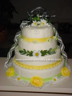 Homemade Wedding Cakes With Fresh Flowers