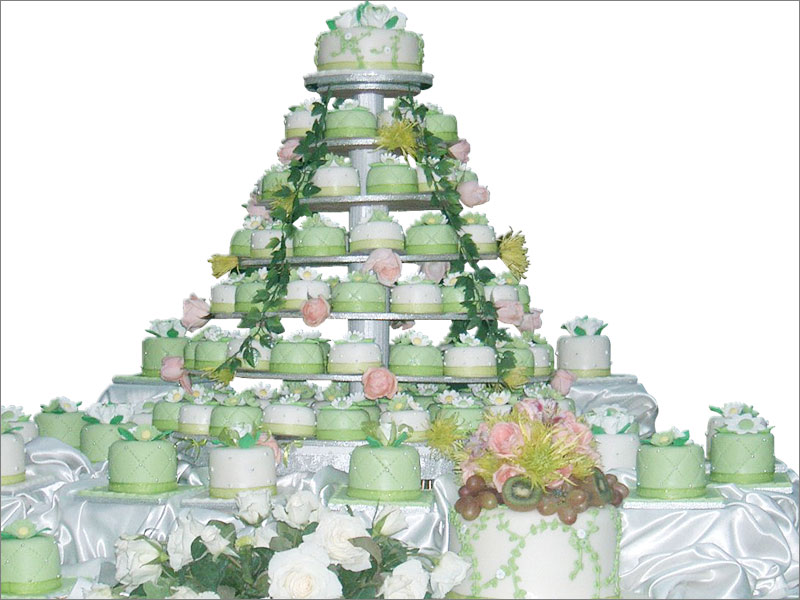 Green Cupcake Wedding Cakes Food and Drink