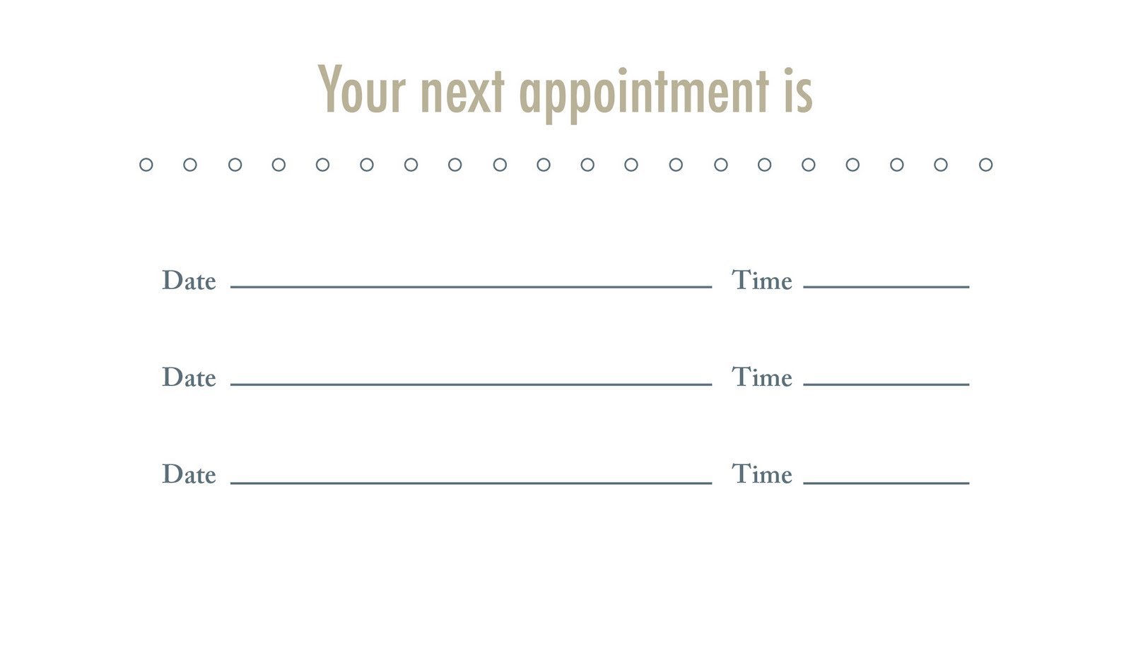 Medical appointment cards templates friedricerecipe Gallery