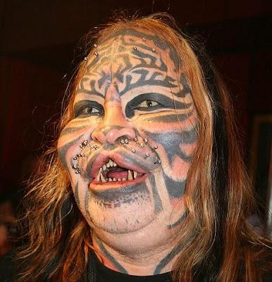 Körperschmuck Tiger+man