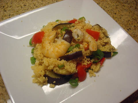 Tomatoes on the Vine: Shrimp Couscous with Grilled ...