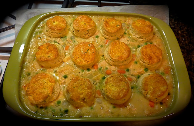 Tomatoes On The Vine Chicken Stew With Biscuits