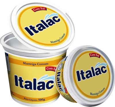 Manteiga com sal Italac