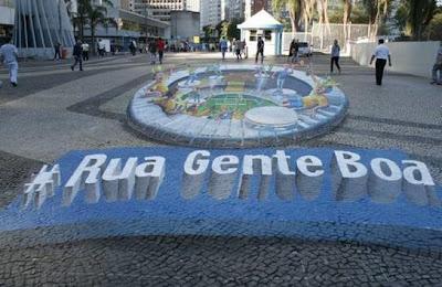 Antarctica faz pintura em 3D em rua do Rio
