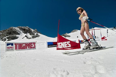 Bikini snow skiing Seen On www.coolpicturegallery.net