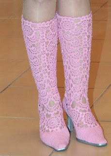 knitted boots