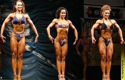 Male and female bodybuilders