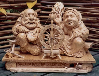 sculpture in wood