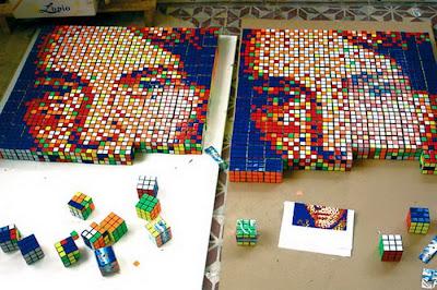 Rubik's cube art