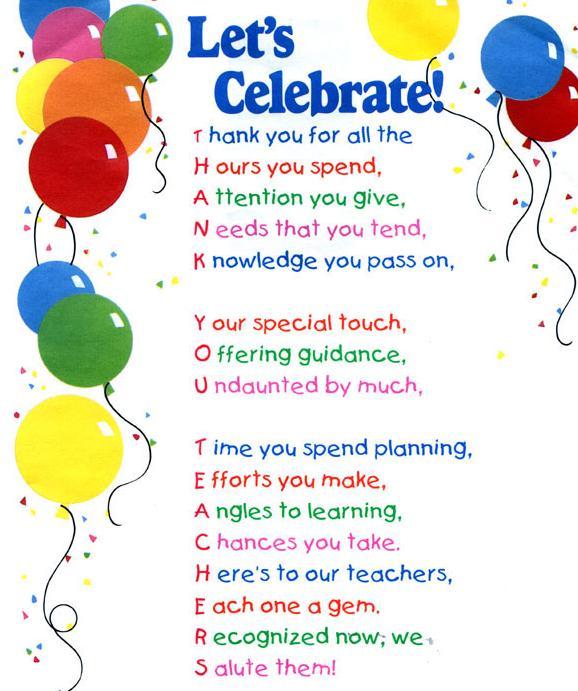 Last Call: Teacher Appreciation Week