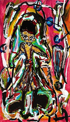miniature, original painting, acrylic ink, the Bronx, boy, Hip-Hop, Graffiti, New York
