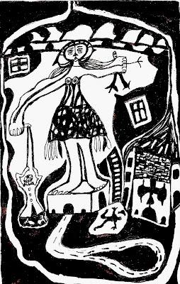 artist bloggers, black and white illustration, surreal