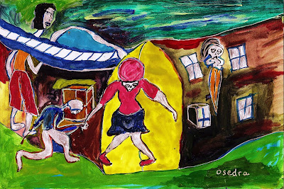 art, 7, colorful art, expressionism, art on paper, illustration, painting, drawing