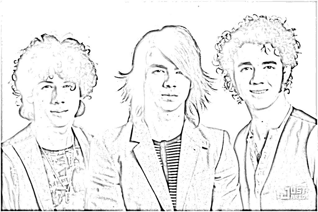 jonas brothers printable coloring pages - photo#25