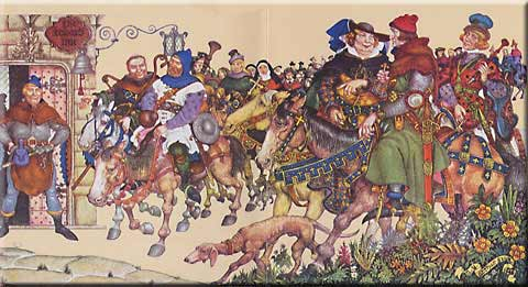 Illustration of The Canterbury Tales