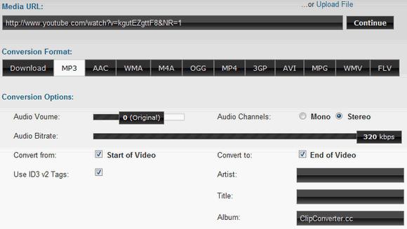 pagina para convertir videos de youtube a mp3 320 kbps