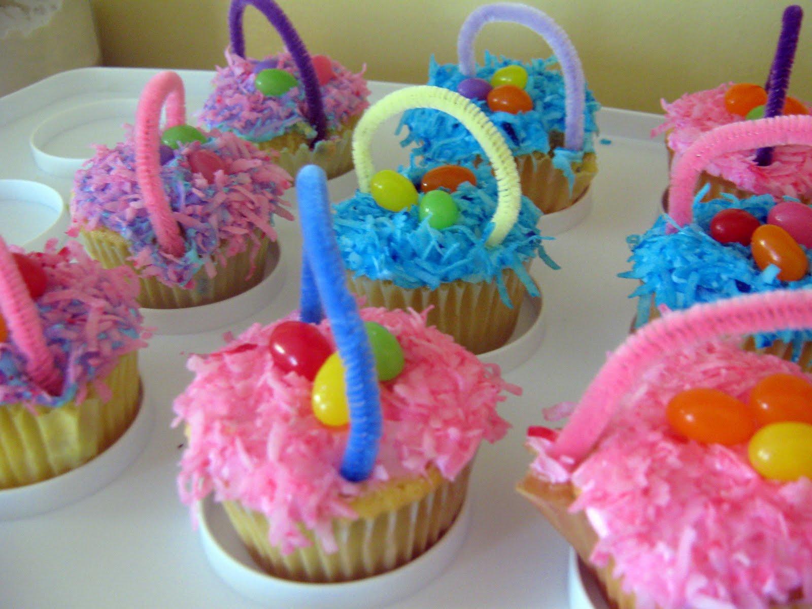 Handmade Easter Baskets Ideas : Home made modern easter basket cupcakes and someday egg