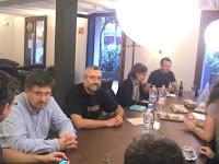 D'esquerra a dreta, Xavi Caballé, Galderich, Beli Artigas i Joan Puigmalet