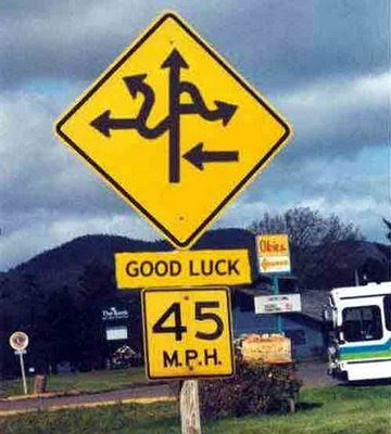 just lol confusing road signs