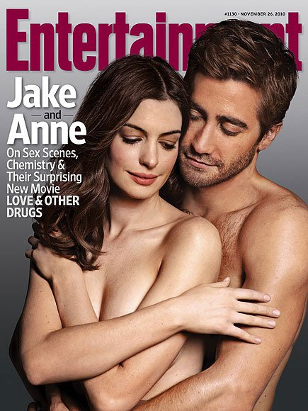 Jake Gyllenhaal shirtless Anne Hathaway topless naked Entertainment Weekly